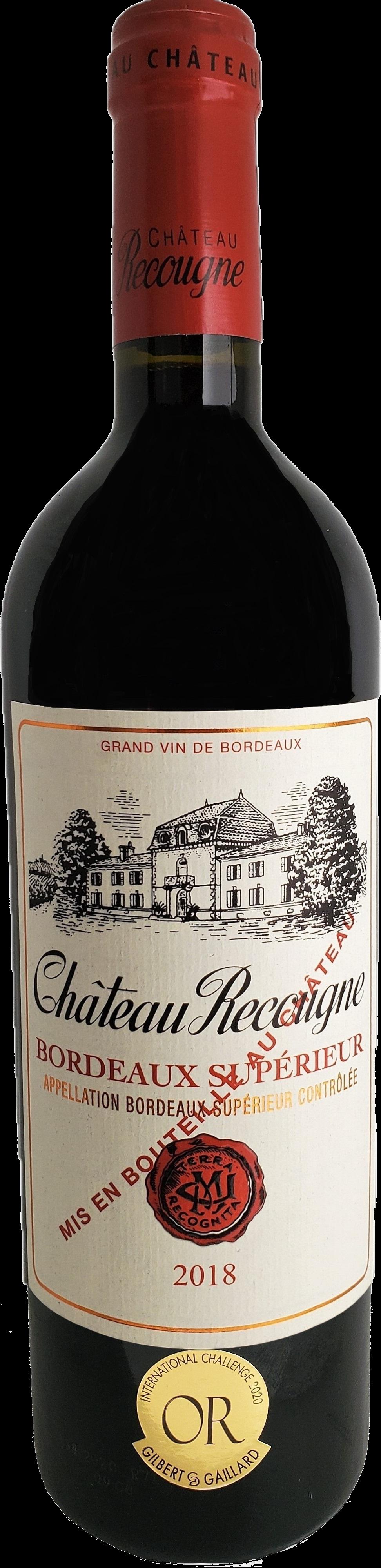 Château Recougne Rouge Bordeaux Supérieur 2018